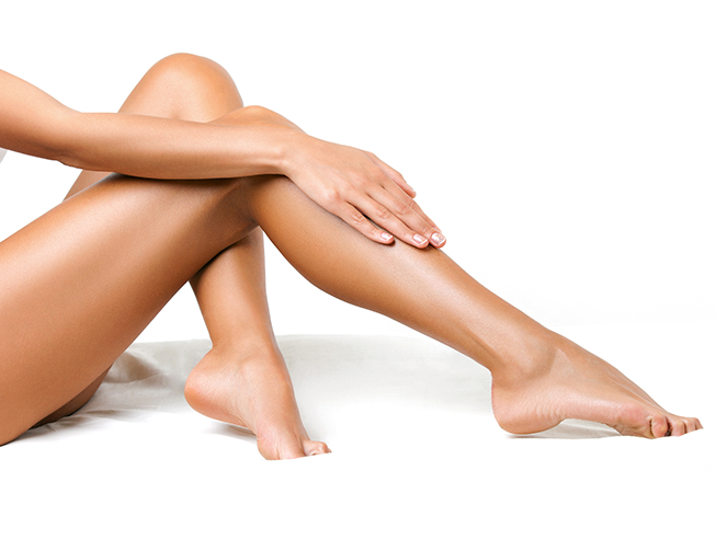 depilação meia perna